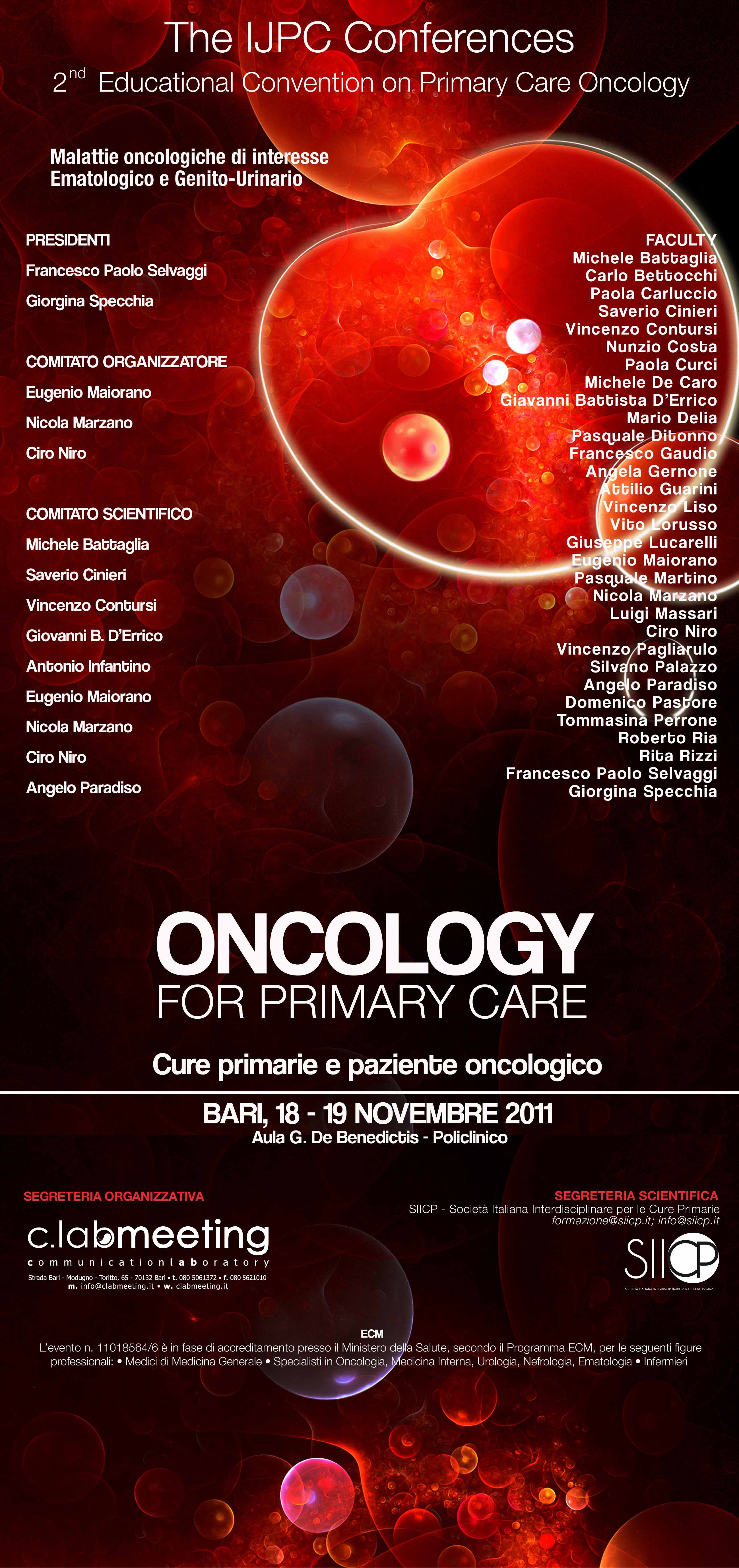 ClabMeeting - ONCOLOGY 2011
